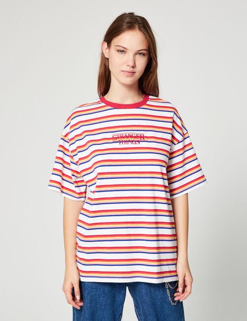 Striped Stranger Things T-shirt