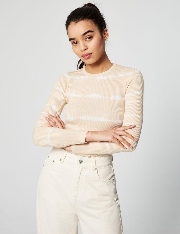 Tie-dye ribbed jumper