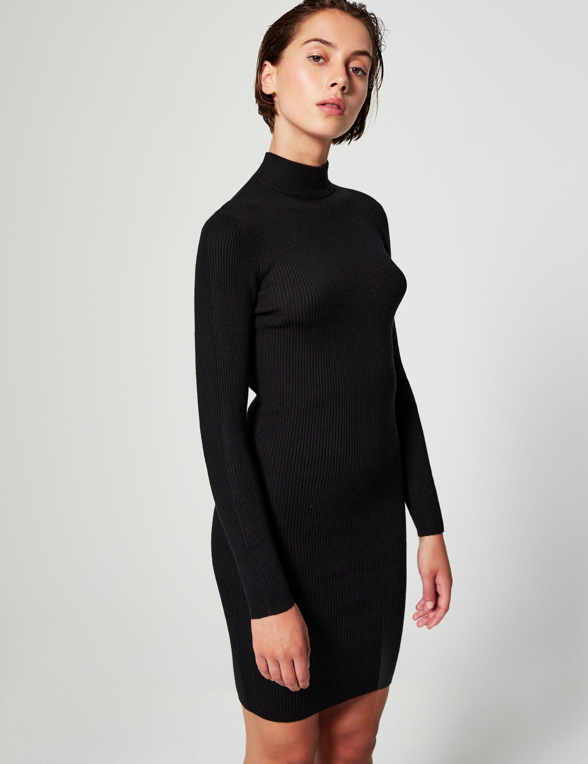 High-necked jumper dress