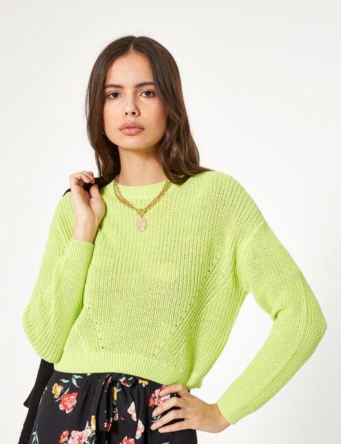 Basic neon green jumper