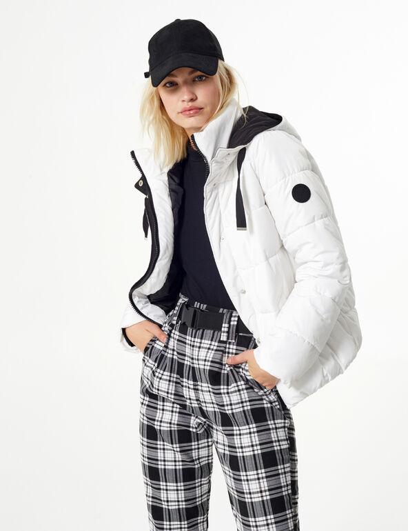 Cropped padded jacket