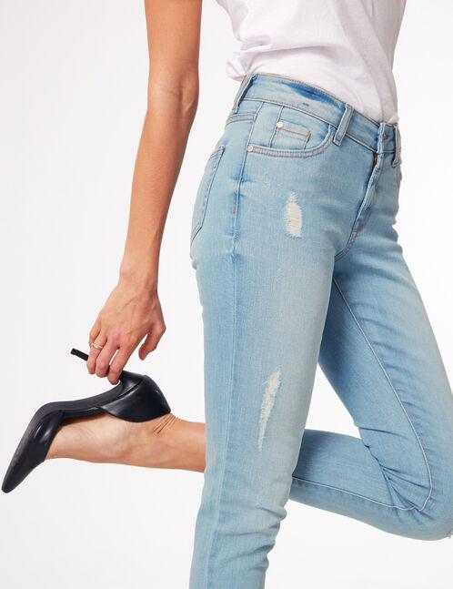 jean skinny taille basse bleu clair