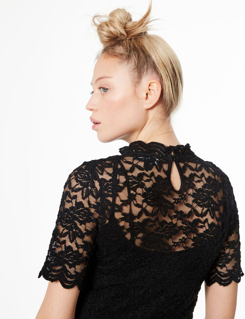 Lined lace T-shirt