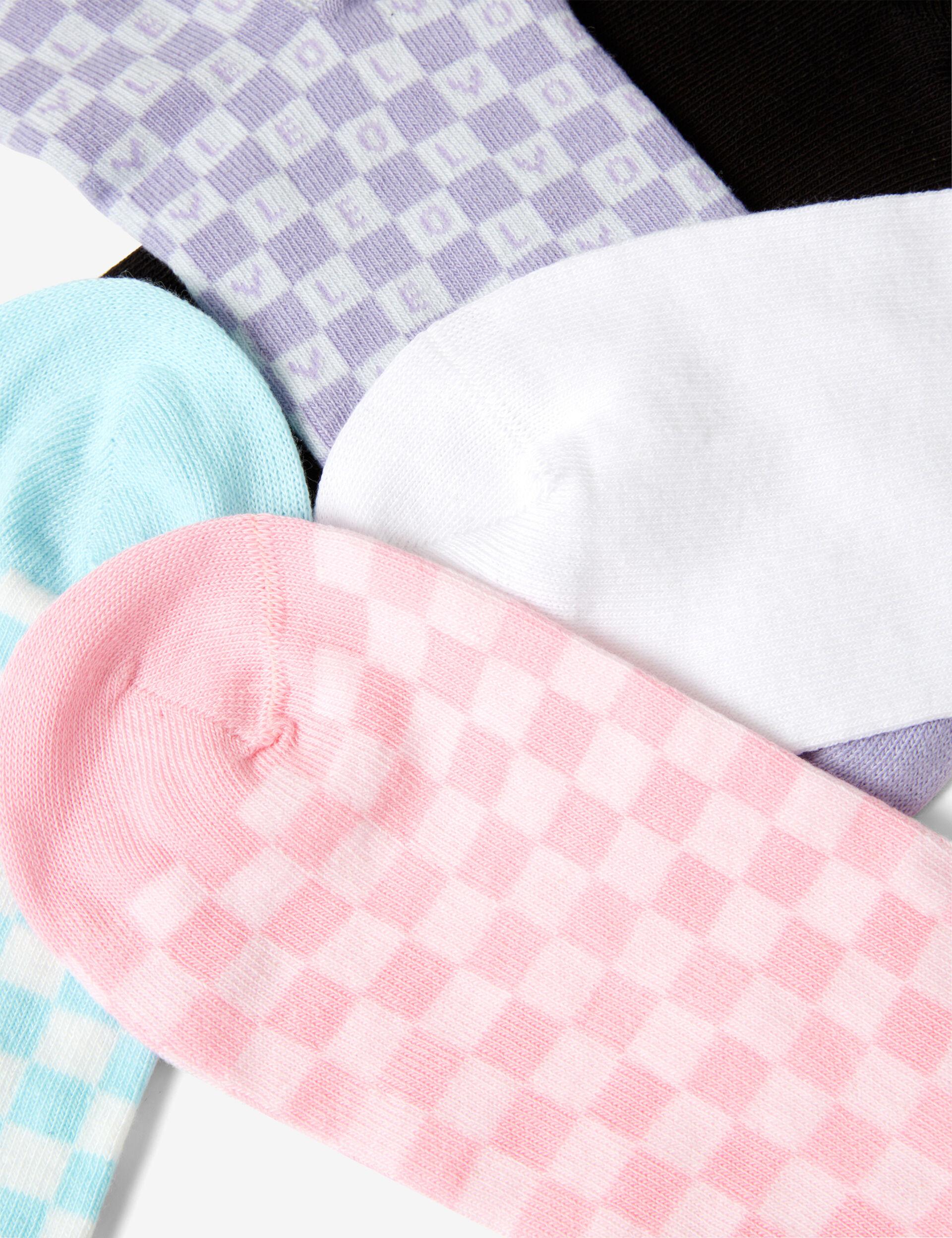 Chaussettes imprimé damier