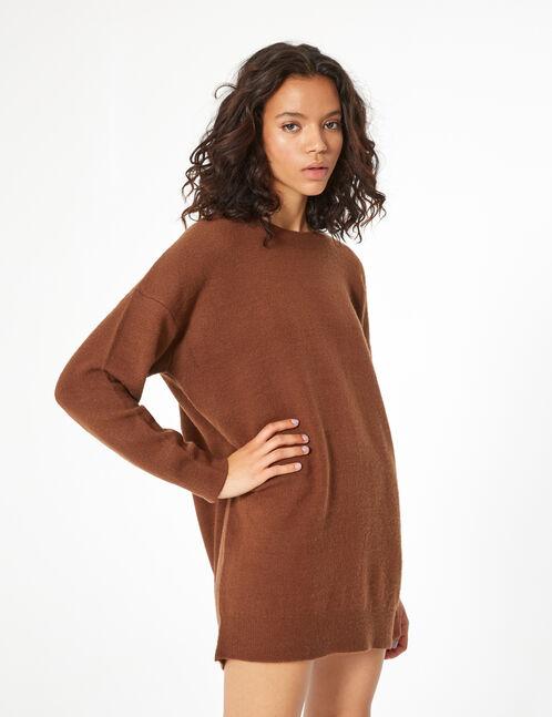 long cashmere-feel jumper