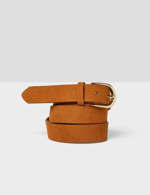 ceinture suédine camel