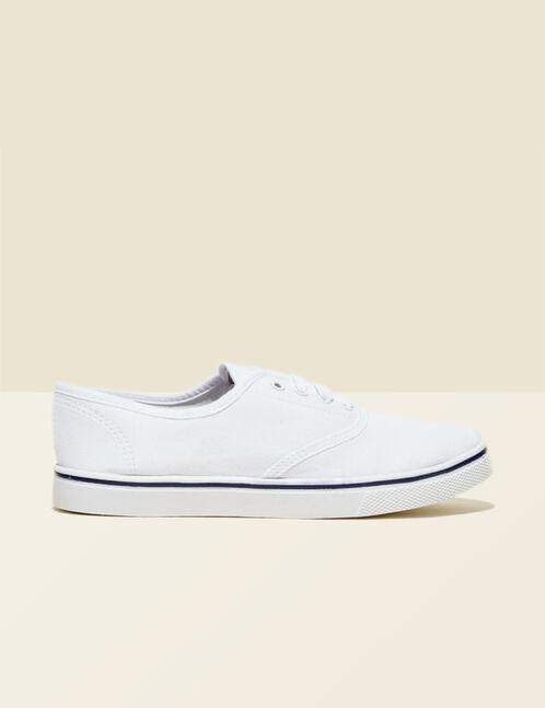 baskets en toile blanche