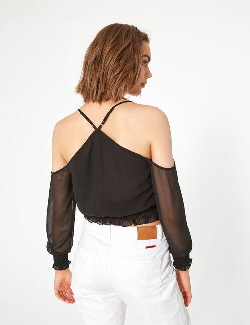 blouse mousseline smokée