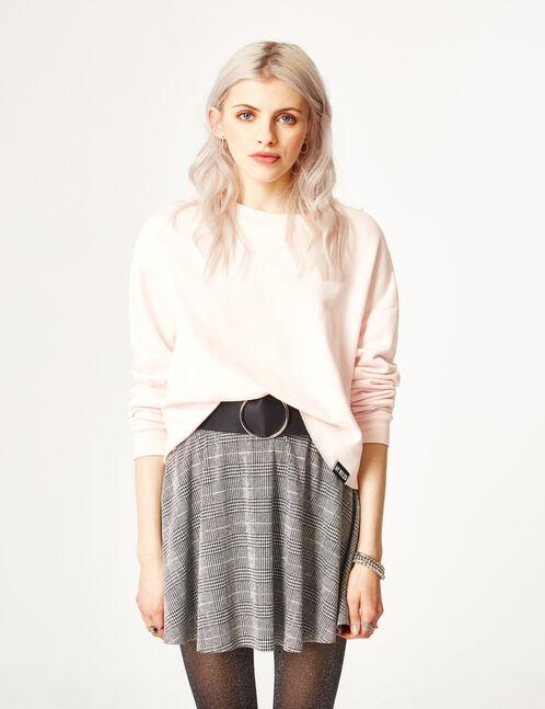Light pink cropped sweatshirt