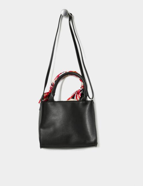 sac à main avec foulard noir