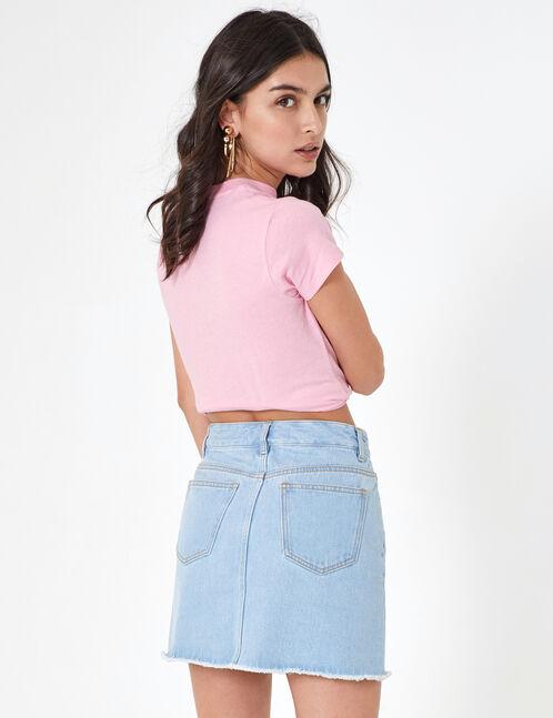 tee-shirt basic rose