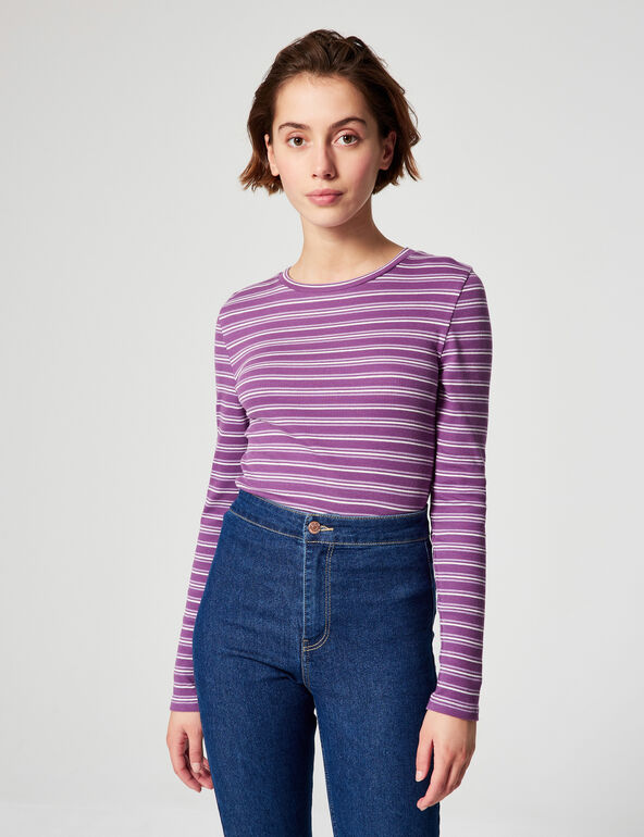 Fitted striped T-shirt