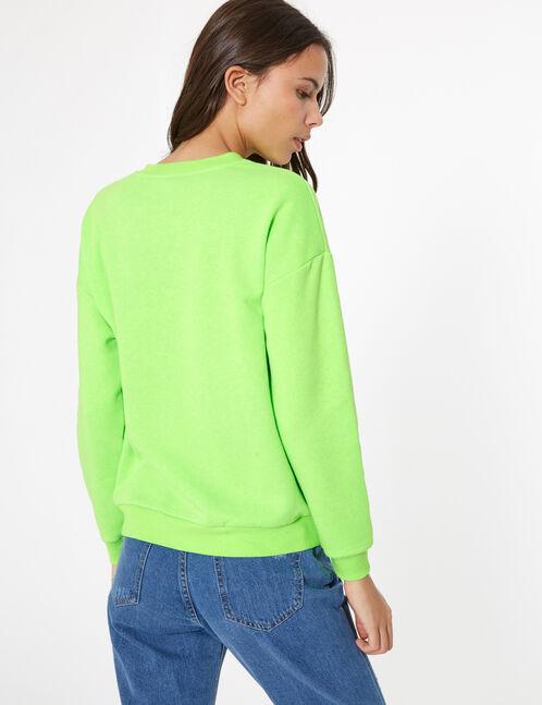 sweat basic vert fluo