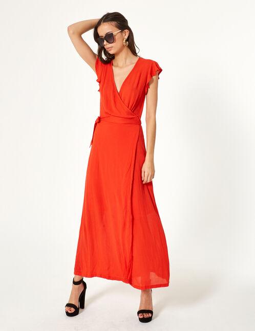 robe cache cœur rouge