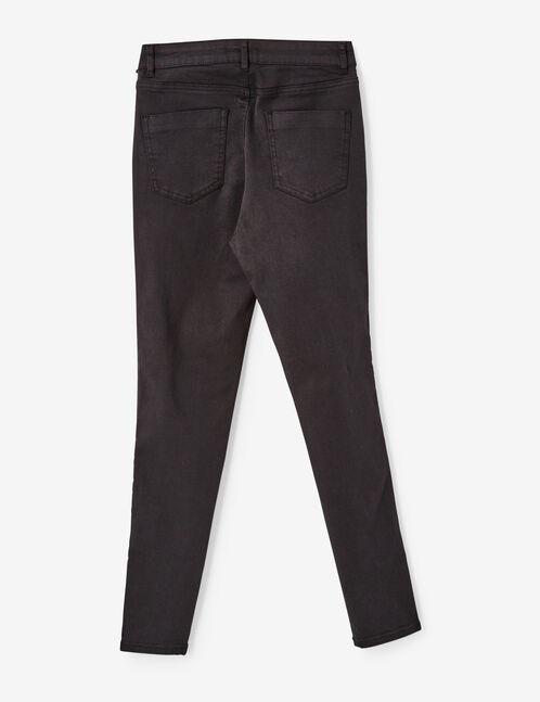 pantalon brodé noir