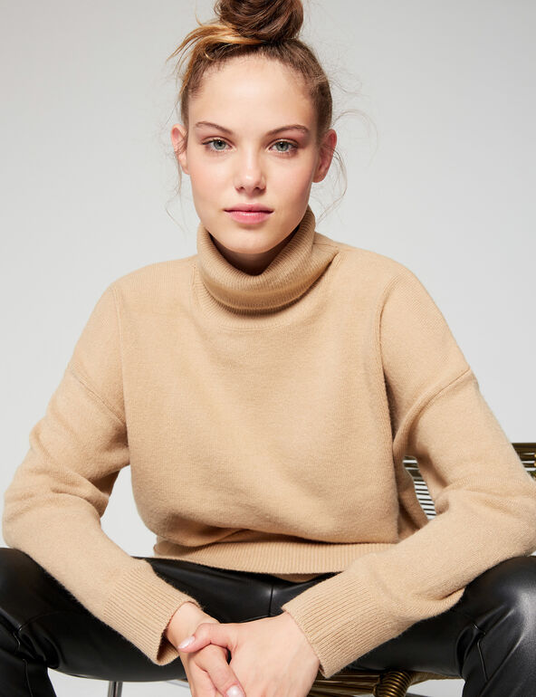 Long roll-neck jumper
