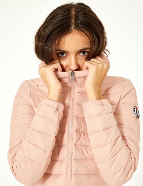 Light pink lightweight padded jacket