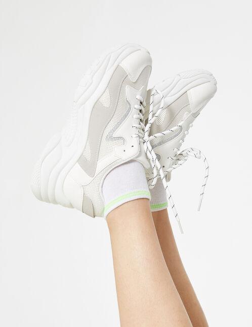 Wedge heel trainers