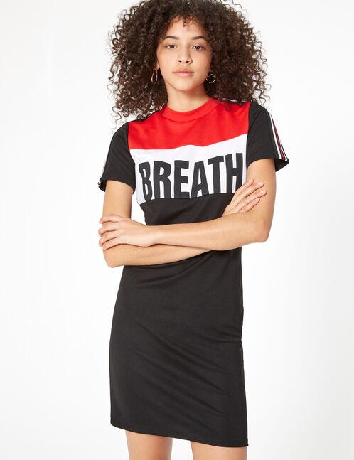 'Breath' dress with stripe detail