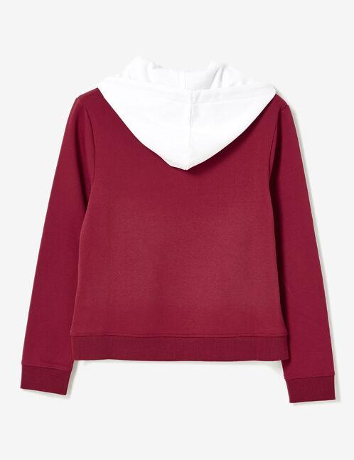Burgundy hoodie