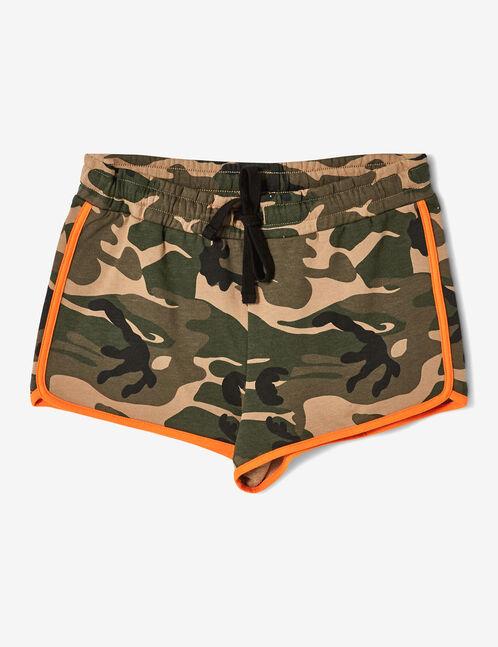 short camouflage kaki