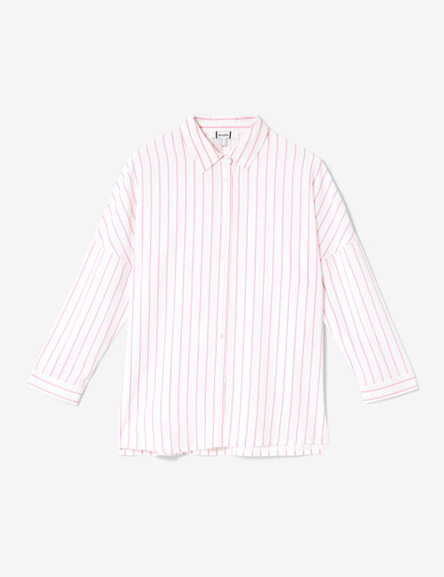 White and pink striped shirt