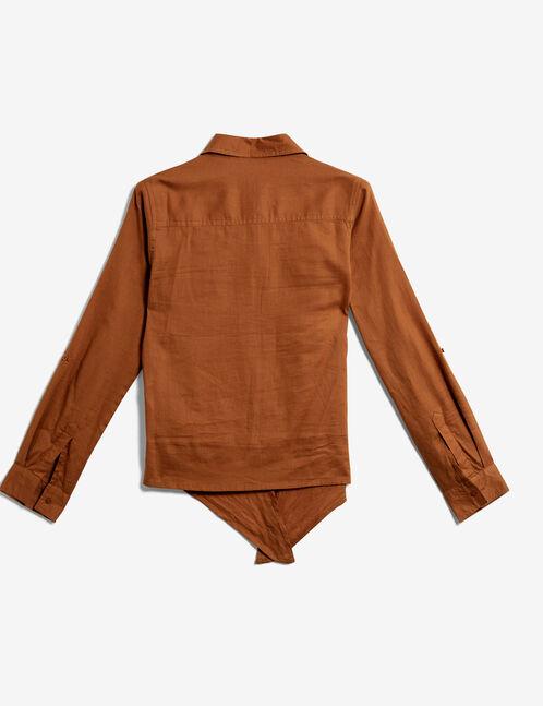chemise à nouer camel