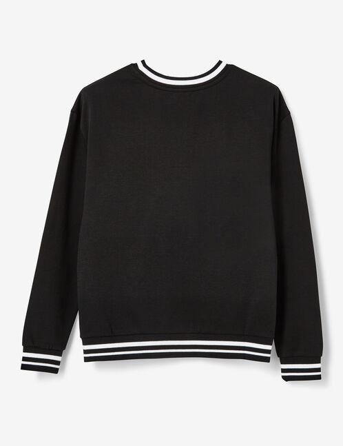 """Black and white """"nice try"""" sweatshirt"""