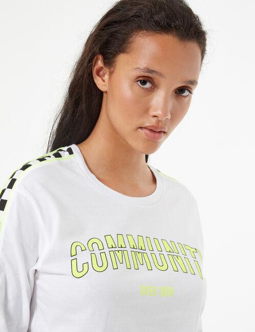 tee-shirt imprimé à damiers