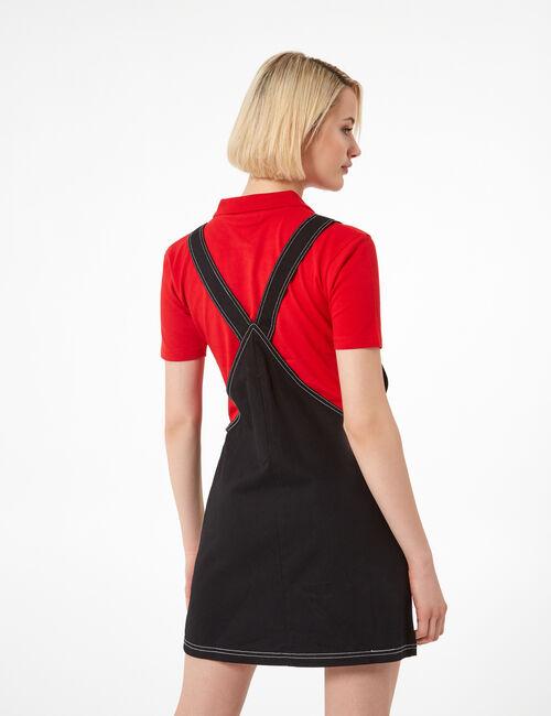 Black zipped pinafore dress
