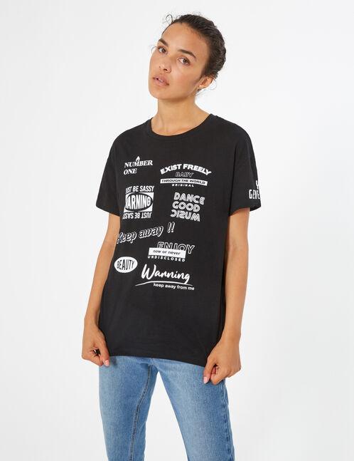 tee-shirt imprimé messages