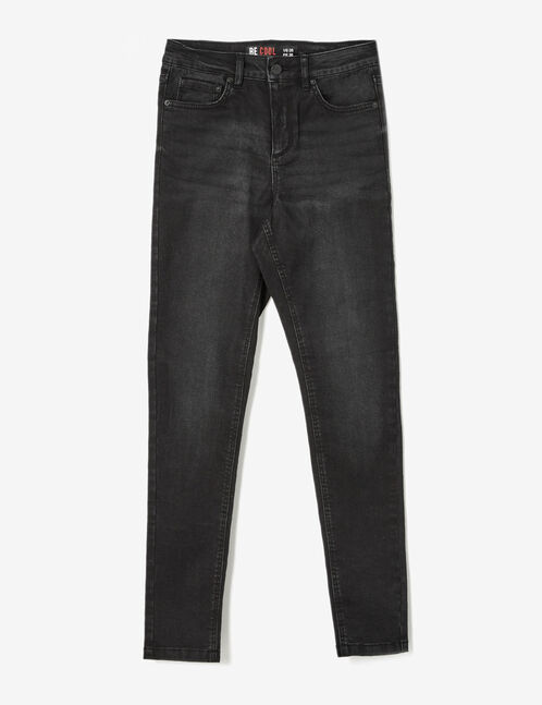 Black high-waisted super skinny jeans