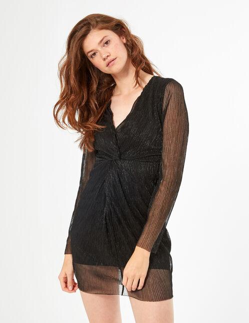 Robe courte plissée