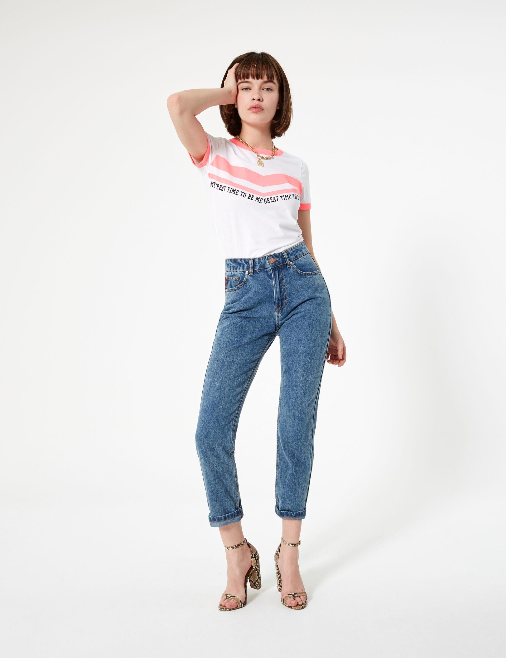 Medium blue high-waisted mom jeans