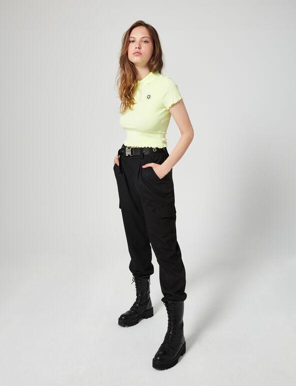 Tee-shirt polo côtelé