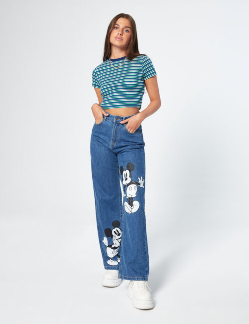 Jean wide leg Mickey Mouse
