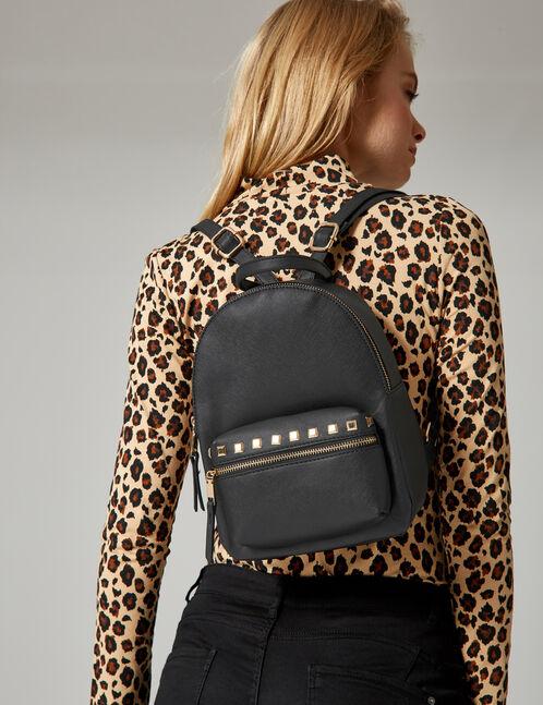 petit sac à dos clouté noir