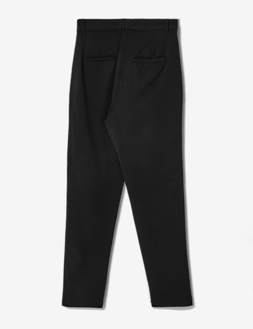 Black tailored trousers with zip detail