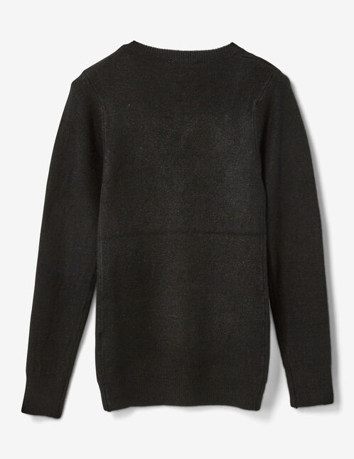 Black cashmere-feel jumper