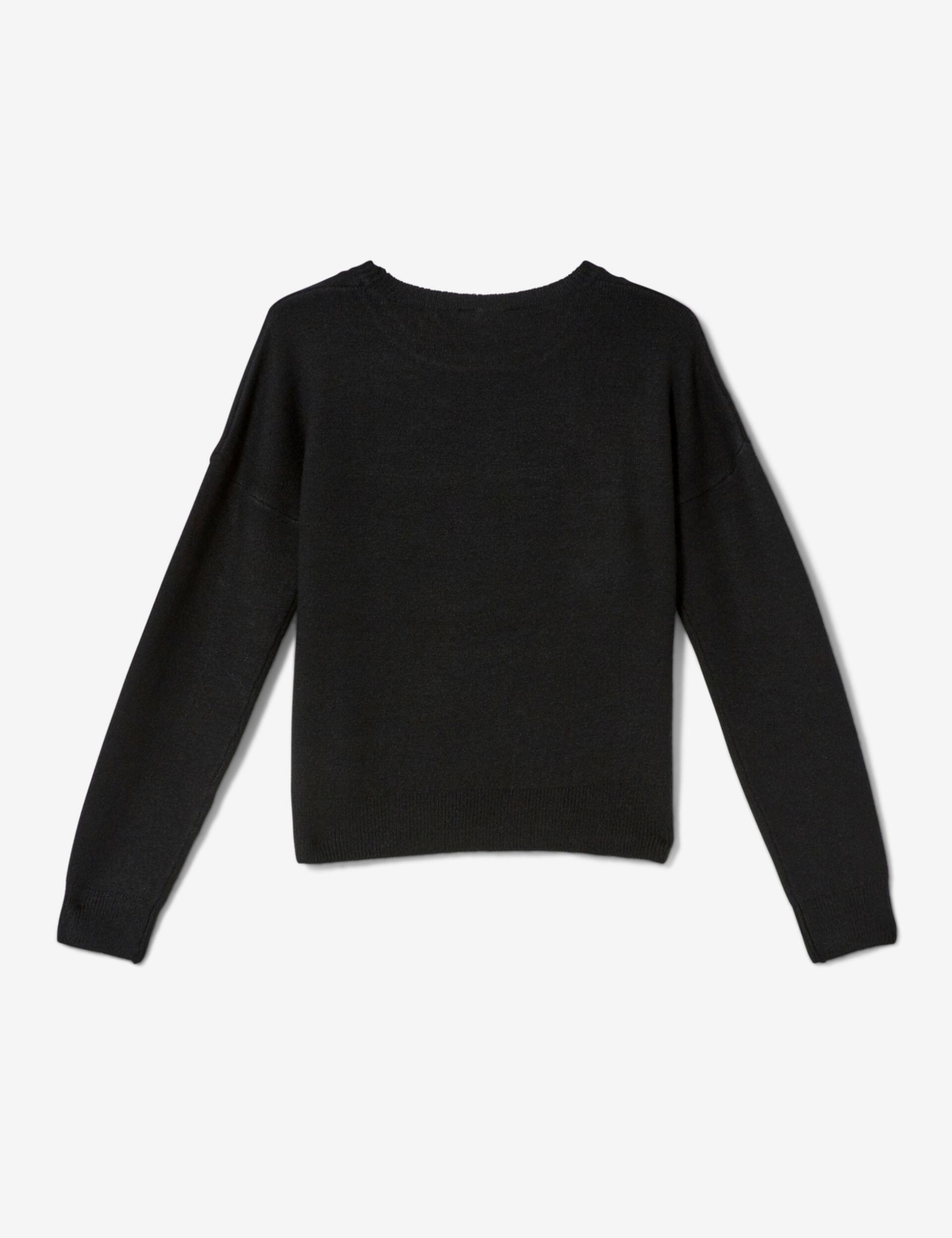 Pull toucher cachemire noir