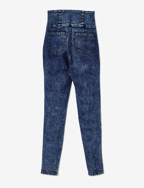 Dark blue super high-waisted jeans
