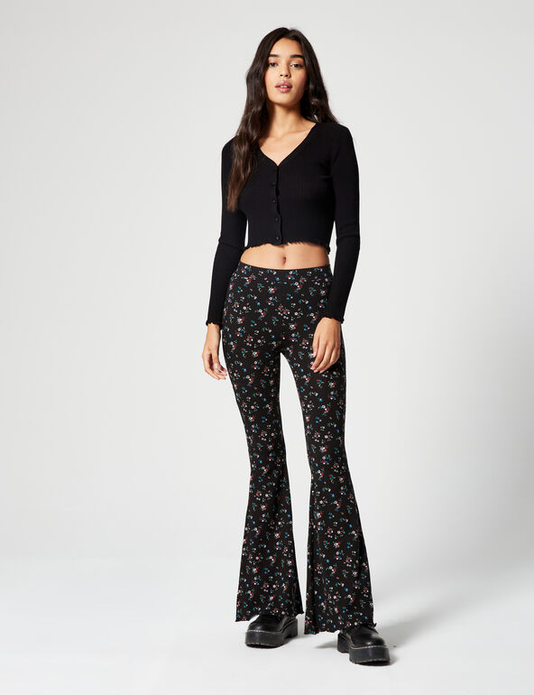 Pantalon évasé imprimé