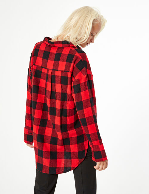 Long checked shirt