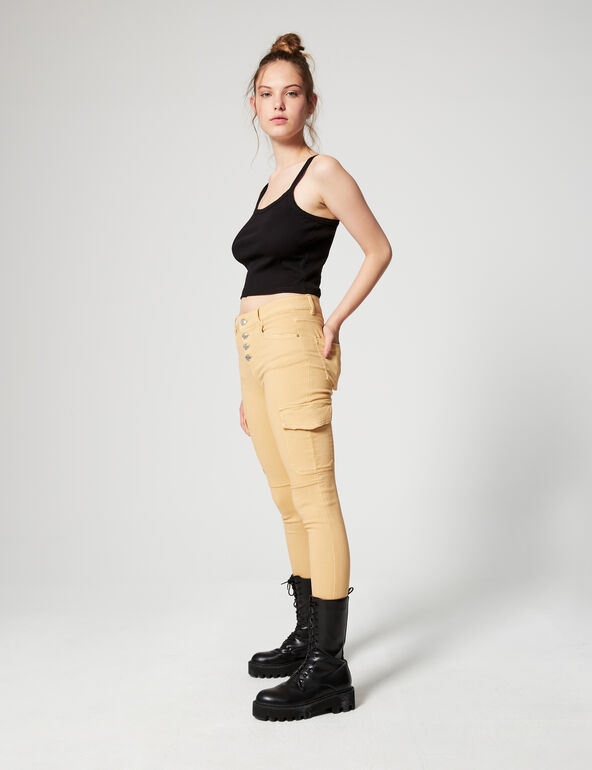 Skinny fit trousers with pockets