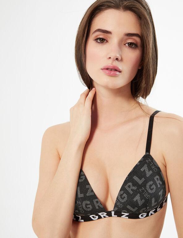 Microfibre triangle bra
