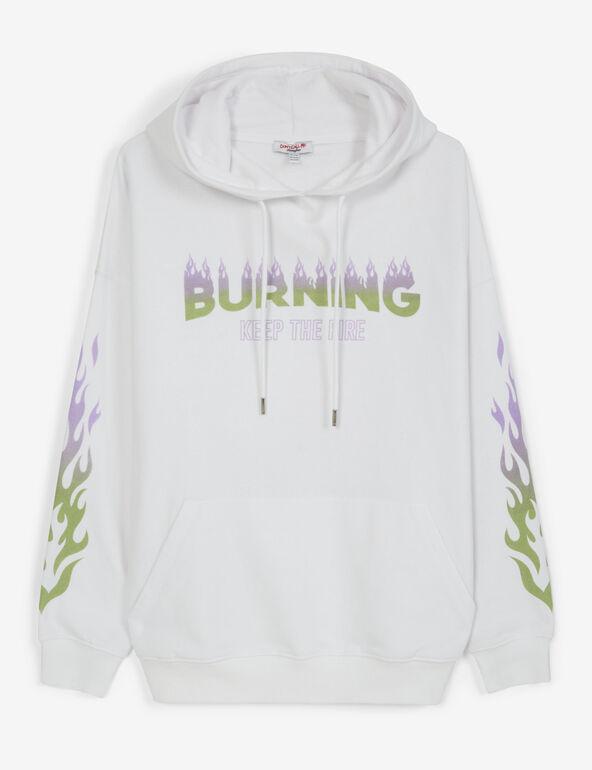 Burning hoodie