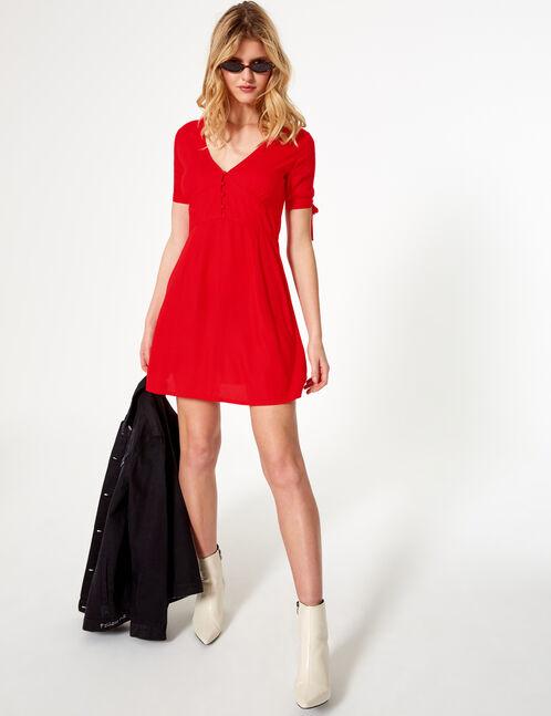 robe légère rouge