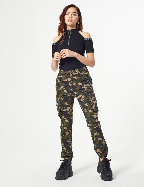 Camouflage cargo trousers