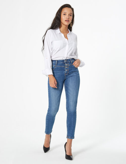 Jeans with cutouts