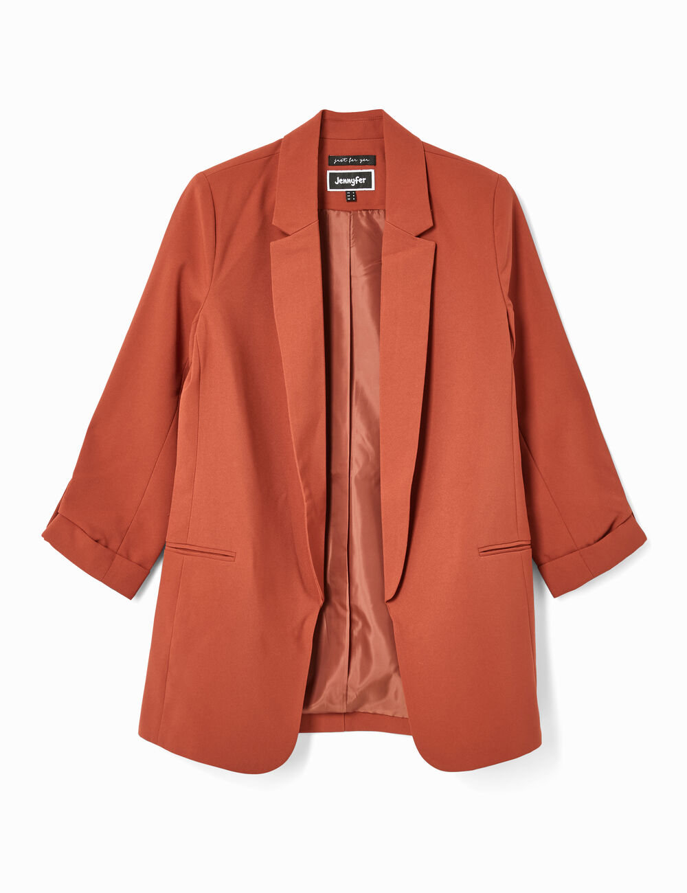 fed6b673c1632 Long rust-coloured blazer woman • Jennyfer